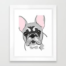 Jersey the French Bulldog Framed Art Print