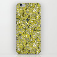 A1B2C3 chartreuse iPhone & iPod Skin