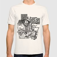 Pirate Mens Fitted Tee Natural SMALL