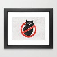 No Owls Framed Art Print