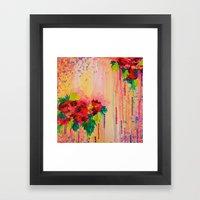 STRAWBERRY CONFETTI PAIN… Framed Art Print