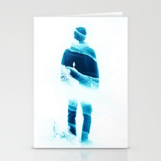Love Isolation in Teal Stationery Cards