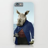iPhone & iPod Case featuring Mr. Rhino's Day at the Beach by Peter Gross