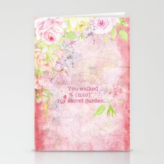You walked into my secret garden  Stationery Cards
