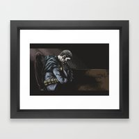 Brooding Batcave Framed Art Print