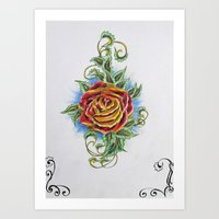 Ornamental Rose Art Print