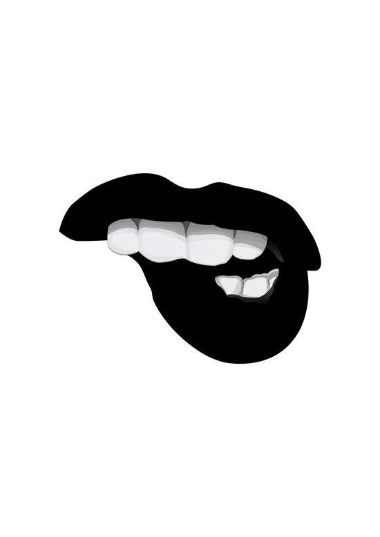 Black Lips Art Print