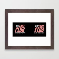 Fart Club Framed Art Print