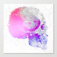 Low poly skull Canvas Print