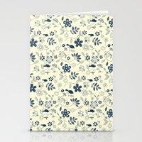 C13 Birds N Flowers Stationery Cards