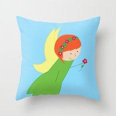 Flower Faerie Throw Pillow