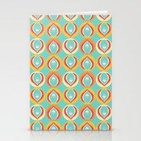 50's Floral Pattern V Stationery Cards