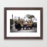 Mardi Gras Brass Band Framed Art Print