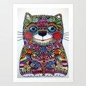 Magic Cat - Decorative Art Print