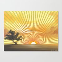 Marylin Sunset Canvas Print