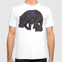 Hippos Mens Fitted Tee White SMALL
