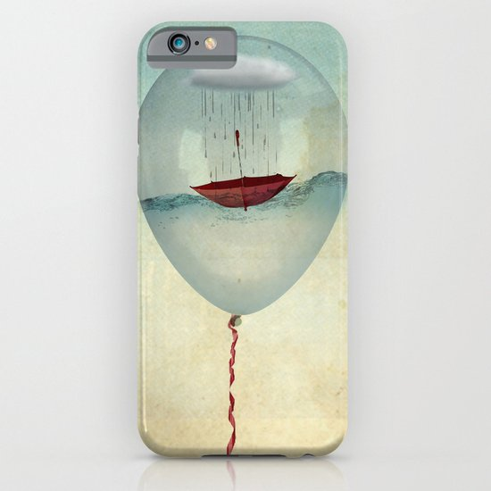 embracing the rain in a bubble iPhone & iPod Case