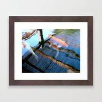 Koi Pond Reflections Framed Art Print