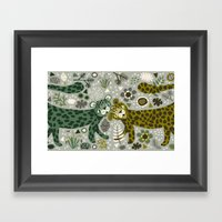 Leopard Love Framed Art Print