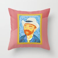 Selfie Van Gogh Throw Pillow