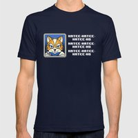 What Does Fox McCloud Say? Mens Fitted Tee Navy SMALL