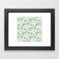 Swim With Me - Pattern Framed Art Print