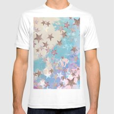 Starry Eyed White Mens Fitted Tee SMALL