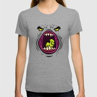 HUNGRY Womens Fitted Tee Tri-Grey SMALL