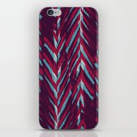 Pink and Blue Painterly Chevrons iPhone & iPod Skin