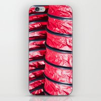 Red Plastic Tubes iPhone & iPod Skin