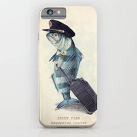 retro iPhone & iPod Cases featuring The Pilot by Eric Fan