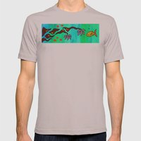 Say Somethin' Mens Fitted Tee Cinder SMALL