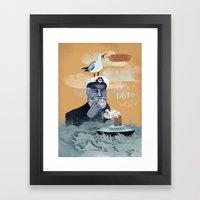 The Captains Lost Again  Framed Art Print