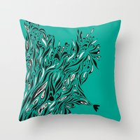 Shrubs Throw Pillow