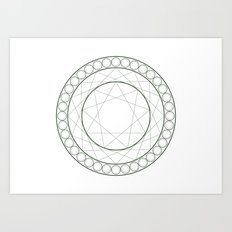 Anime Magic Circle 12 Art Print