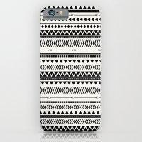 BLACK AND WHITE AZTEC iPhone 6 Slim Case