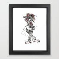 Lovely Death B/W Framed Art Print