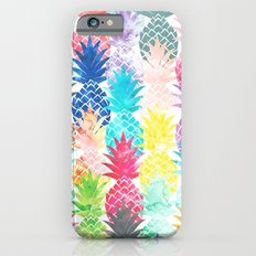 Hawaiian Pineapple Pattern Tropical Watercolor iPhone 6 Slim Case
