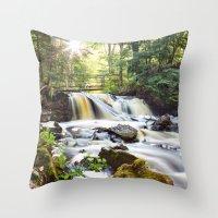 Upper Chapel Falls at Pictured Rocks National Lakeshore - Michigan Throw Pillow