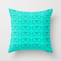 Sorry grandpa, you're a hipster. Throw Pillow
