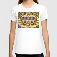 Pineapple By Alex Garant Womens Fitted Tee White SMALL