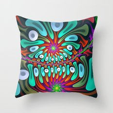 Colourful splatter pattern Throw Pillow