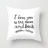 To The Moon And Back- Wh… Throw Pillow