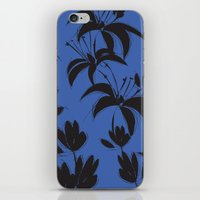 Black And Dark Blue Nigh… iPhone & iPod Skin