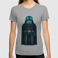 Emperor's Wrath Darth Vader Womens Fitted Tee Tri-Grey SMALL