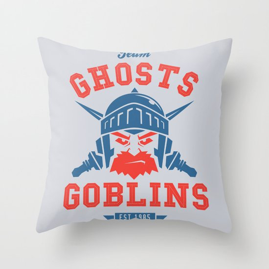 Team Ghosts & Goblins Throw Pillow