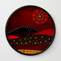 Red Spring Wall Clock