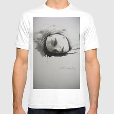 sleeping beauty SMALL White Mens Fitted Tee