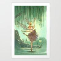 Goblins Drool, Fairies Rule - Willow Sue Art Print