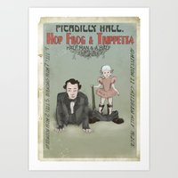 Hop Frog & Trippetta, half man and a half. Art Print